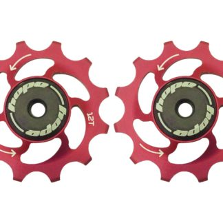 Hope 12 Tooth Jockey Wheels Red