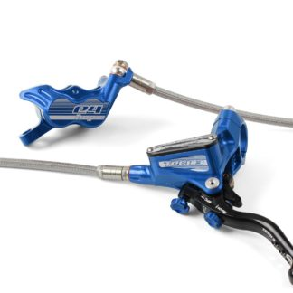 Hope Tech 3 E4 Disc Brake Rear L/H Braided Hose Blue