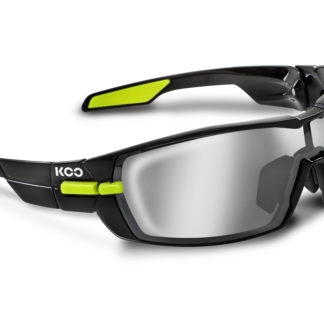 Koo Open Black/Lime Smoke Mirror Lenses