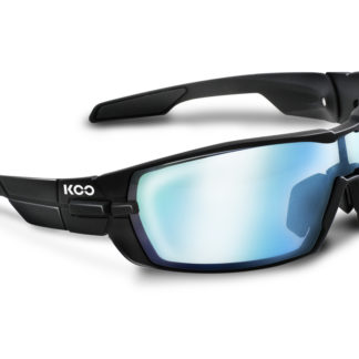 Koo Open Matt Black Super Blue Lenses