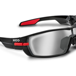Koo Open Black/Red Smoke Mirror Lenses