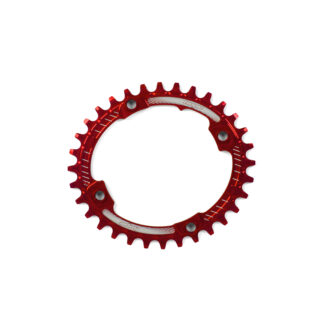 Hope Oval Retainer Ring RED