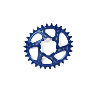 Hope Oval Spiderless Retainer Ring BLUE