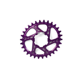 Hope Oval Spiderless Retainer Ring PURPLE