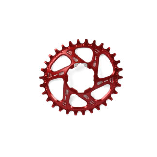 Hope Oval Spiderless Retainer Ring RED