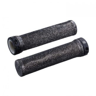 Supacaz Diamond Kush Bar Grips Black w/ Single Star Ringz