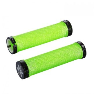 Supacaz Diamond Kush Bar Grips  Neon Green w/ Black DH Star Ringz
