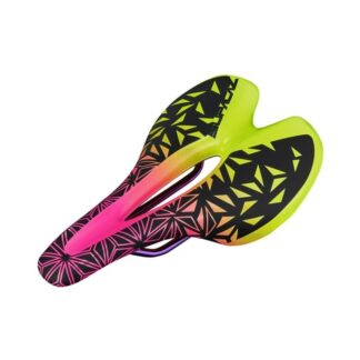 Supacaz Ignite Ti Saddle Neon Pink/Yellow Fade