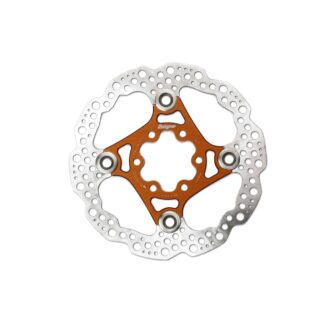 Hope Floating Disc Rotor 140MM 6 Bolt Orange
