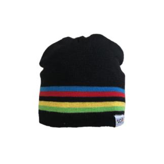 Big Bobble Hats UCI Black Rainbow Stripes Beanie