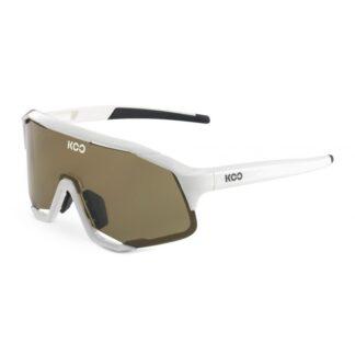 Koo Demos White Frame Brown Lenses