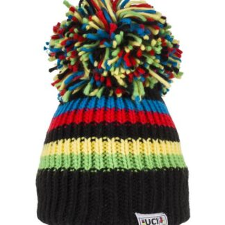 Big Bobble Hats UCI Black Rainbow Stripes