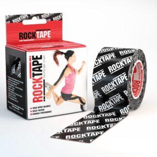 RockTape Kinesiology Tape Black Logo 5cm Width 5m Length