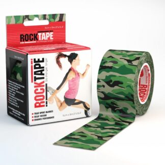 RockTape Kinesiology Tape Camo Green Logo 5cm Width 5m Length