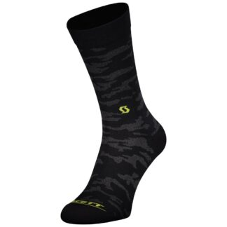 Scott Trail Camo Crew Socks Black/Sulphur Yellow