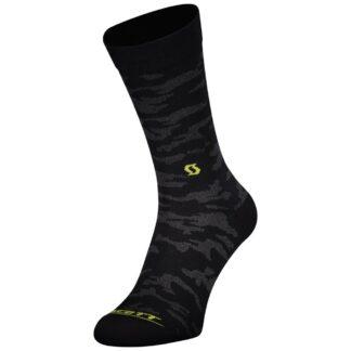 Scott Trail Camo Crew Socks Black/Sulphur Yellow