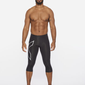 2XU Mens Core Compression 3/4 Tights Black/Silver