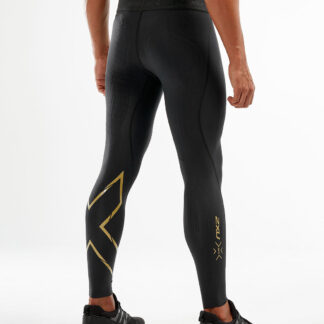2XU Mens Force Compression Tights Black/Gold