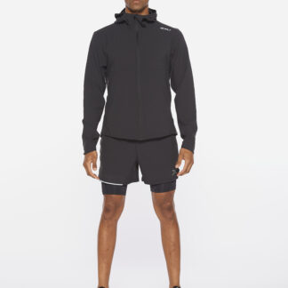 2XU Mens Aero Jacket Black/Silver