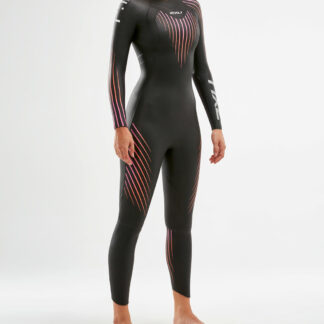 2XU Womens P:1 Propel Wetsuit Black/Sunset Ombre