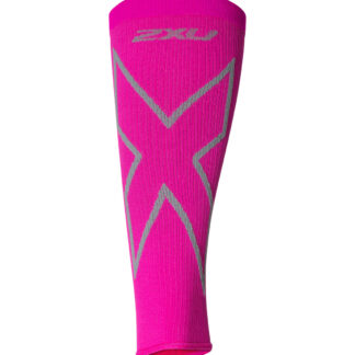 2XU X Compression Calf Sleeves Magenta/Light Grey