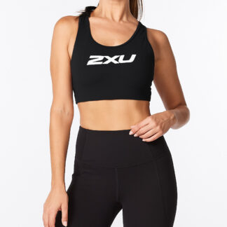 2XU Womens Motion Racerback Crop Black/White