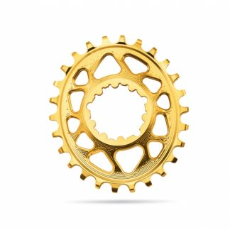 Absolute Black MTB Oval SRAM BOOST 148 Direct Mount (3mm offset) Chainring Gold