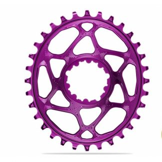 Absolute Black MTB Oval SRAM BOOST 148 Direct Mount (3mm offset) Chainring Purple