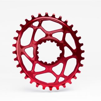 Absolute Black MTB Oval SRAM BOOST 148 Direct Mount (3mm offset) Chainring Red