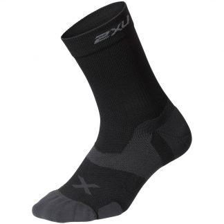 2XU Vectr Cushion Crew Socks Black/Titanium