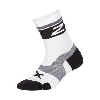 2XU Vectr Cushion Crew Socks White/Black