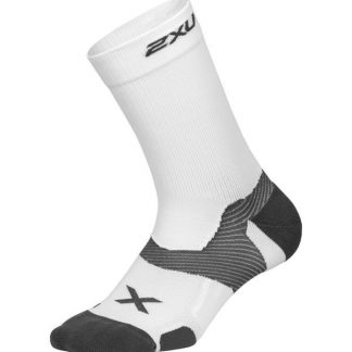 2XU Vectr Cushion Crew Socks White/Grey
