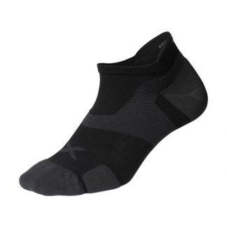 2XU Vectr Cushion No Show Socks Black/Titanium