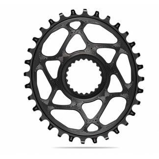 Absolute Black MTB Oval XTR, XT, SLX 12sp Direct Mount Chainring Black