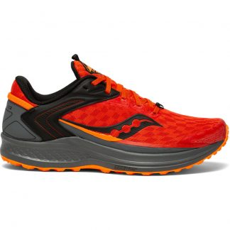 Saucony Canyon TR2 Running Shoes Scarlet/Vizi