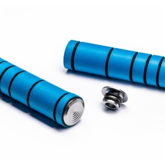 Absolute Black Silicone MTB Grips Blue