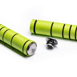 Absolute Black Silicone MTB Grips Green