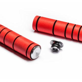 Absolute Black Silicone MTB Grips Red