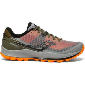 Saucony Peregrine 11 Running Shoes Alloy/Olive/Vizi